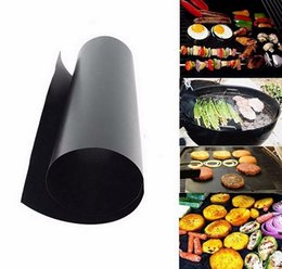Wholesale heating charcoal - Non-Stick BBQ Grill Mat Thick Durable 33*40CM Gas Grill barbecue mat Reusable No Stick BBQ Grill Mat Sheet Picnic Cooking Tool