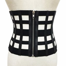 e95e6b3b84 belt vintage corset Coupons - Vintage Black PU Leather Corset Bandage  Womens Waist Belt 2017 New