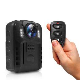 Mini DV HD Vücut Kamera 1296 P IR Gece Görüş Kablosuz Giyilebilir Kamera Araba DVR Spor Kameralar Dahili 3000 Mah Şarj Edilebilir pil nereden gizli ip güvenlik kameraları tedarikçiler
