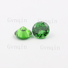 Wholesale gemstone heating - 50pcs lot free shipping 8.5mm-10mm AAA cubic zirconia green round CZ Machine Synthetic Gemstones Wholesale Price