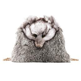 Меховой мех онлайн-2018 New Style Fur Women Handbags Winter Shoulder Bag Fur Handbag lady Messenger Bag faux  Shoulder Tote clutch 763