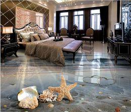 Wholesale Back Roll Painting - vinyl flooring bathroom Beautiful romantic beach 3D floor to floor painting vinyl flooring adhesives