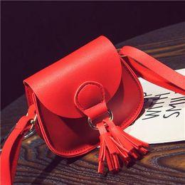 Wholesale Black Leather Tassel Bag - Fashion Tassel Women Messenger Bags Female Handbags Famous Brand PU Leather Shoulder Crossbody Bags For Women Small Flap Bag Sac