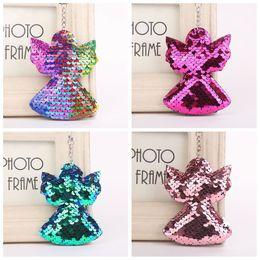 Women/'s Sequin Angel Key Chain Handbag Keyring Gift Fashion Unique Jewelry