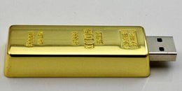 Wholesale Post Pen - epacket post Gold bar pen drive 32GB 64GB 128GB 256GB USB Flash Drive Memory Stick with OPP Packaging