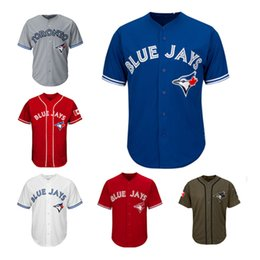 Wholesale blank blue - Men Women Youth Blue Jays Jerseys Blank Jersey Baseball Jersey No Name No Number White Gray Grey Blue Red Canada Day Green Salute to Service