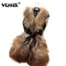 Coletes de couro feminino on-line-Faux Fur Vest Jacket Mulheres Winter Couro Quente Coletes Feminino Manga Slim Fit longas Vest Jackets Coats Plus Size 3XL