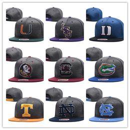 Wholesale Design Snapbacks - 2018 new style fashion NCAA Duke Blue Devils snapbacks mens Alabama hats Reflective Design caps USA College Letter A D Logo Adjustable Caps