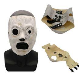 2018 Новый латекса маски группы Slipknot Кори Тейлор косплей Маска Хэллоуин Маска партия маскарадные маски удавка ТВ бар от Поставщики jabbawockeez белая маска для лица