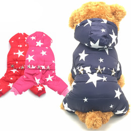 Wholesale pet stars - King -S Pet Dogs Pets Clothing Coat Jacket Teddy Chihuahua More Stars Clothes Small Dogs Four Legs Puppy Leisure Style Size S -Xxl