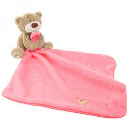 Wholesale Care Bear Wholesale - Trendy Cartoon Printing Children Towels Super Soft Baby Care Towel Strong Absorbent Baby Bathing Towel Bear Blankie