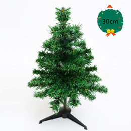 tops de mesa de escritório Desconto Pequenas Árvores De Natal De Pinheiro 38 cabeças Colocadas Na Área De Trabalho Mini Árvore De Natal Verde favor favor decorações da festa de Natal
