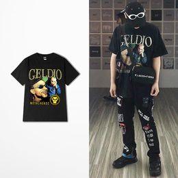 Wholesale shirt vintage male - New Fashion Rock Punk Tshirt Men Skateboard High Street Men T Shirt Hip Hop Dance Casual Wear Vintage T-shirt Male 2018