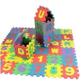 Wholesale Numbers Puzzle - HOT children mini EVA Foam Alphabet Letters Numbers Floor Soft Baby Mat 3d puzzle Kids Educational toys 36 pcs