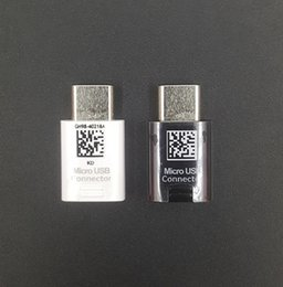 Wholesale oem connector - Brand new OEM Type-C Micro USB OTG Adapter Connector for Samsung Galaxy S8 S8 Plus Original