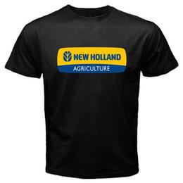 Jersey corto de holanda online-Nueva camiseta de los tractores New Holland de manga corta con cuello redondo O-Neck New Jersey 100% de algodón 100% para hombres