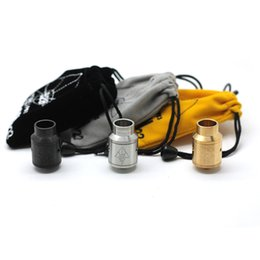 Wholesale hybrid steel - GOON 22 RDA Clone Atomize Wide Bore Drip Tip Hybrid Safe E Cigarette Mods With Stainless Steel DHL