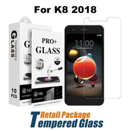 Wholesale Blade Screen Protector - For LG K8 2018 Regular Clear Tempered Glass ZTE Blade Force N9517 Blade X Screen Protector Film With Paper Package