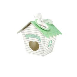 """wedding party favour boxes UK - shape 5 50pcs lot """"Love Nest"""" Green Bird House Wedding Favour Box Candy Gift Packing Box Wedding Party Favour Bird House Shape"""