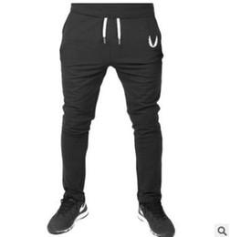 Wholesale full workout - 2018 Cotton Men full sportswear Pants Casual Elastic cotton Mens Fitness Workout Pants skinny Sweatpants Trousers Jogger Pants