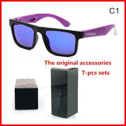 Wholesale Mercury Mix - Men and women retro color sunglasses brand folding paragraph mercury reflective sunglasses with original box 7 color optional
