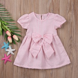 Wholesale Cute Baby Girl Chinese - Summer baby girl Butterfly Tie princess skirt dress Birthday Party Cute Girls Dress Skirt Children's Clothes Solid Color Cotton Skirt