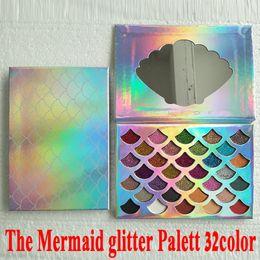 Wholesale Wholesale Beauty - Fashion Women Beauty Cleof Cosmetics The Mermaid Glitter Prism Palette Eye Makeup Eyeshadow Palette DHL free shipping