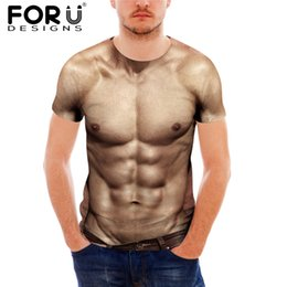 muscle 3d shirt Coupons - FORUDESIGNS Muscle 3d T Shirt Men,Funny Body Print T-shirt for Male,Youth Teenager Short Sleeve Tee Shirt Clothing Summer homme