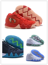 Wholesale Crazy Leather Shoes - 2018 new fashion irving 4s Men star Basketball 4 CRAZY EXPLOSIVE mid kyrie Basketball sneaker Newest release for kyrie sport Shoes killer