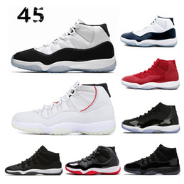 online store 671a5 bda4e New 11 11s concord 45 Platinum Tint Men Damen Basketball Schuhe Mütze und  Gown Gym rot gezüchtet Legende Gamma Blue Sports Trainer Sneaker