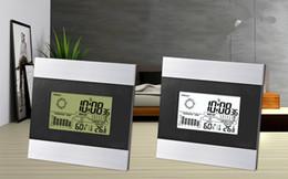 LCD table numérique réveil Prévisions météo avec rétro-éclairage blanc température intérieure humidité compteur Thermomètre domestique hygromètre ? partir de fabricateur