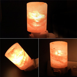2019 гамалайские солевые лампы Rotatable Mini Himalayan Salt Night Light Cylinder Shape Wall Lamp EU US AU UK Plug Bedside Bedroom Home Decor Novelty Lighting скидка гамалайские солевые лампы