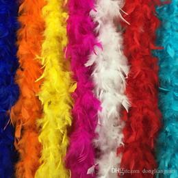 Boa de plumas de decoración del partido online-DLM2 2020 Feather boa 180cm burlesque showgirl gallina noche disfraces fiesta baile disfraz accesorio boda DIY decoración 17 colores Z903