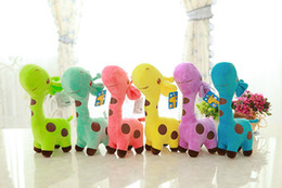 Wholesale Games Choice - New 18cm Plush Giraffe Soft Toy Animal Dear Doll Baby Kid Child Birthday Happy Gift 6 Colors for choices
