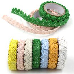 tessuto di pizzo adesivo Sconti Tessuto di pizzo di cotone di alta qualità bianco pizzo crochet rotolo nastro adesivo nastro adesivo maglia decorazione artigianale tessuto fai da te decorazioni per la casa