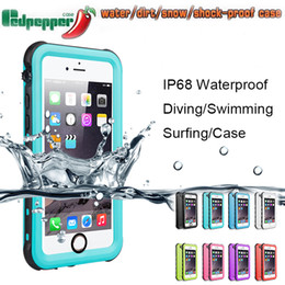 Wholesale iphone waterproof case redpepper - Redpepper Waterproof Case For Iphone X 8 7 6 6S Plus Samsung Galaxy Note 8 S6 s7 edge s8 Shock proof cover
