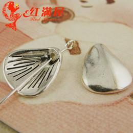A4018 13 * 14 MM Handmade DIY acessórios de jóias de prata encantos shell do mar, itens náuticos de prata tibetano pequeno furo beads, nepal charme de