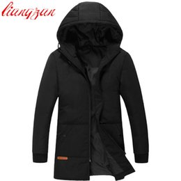 Белые тонкие подошвы онлайн-Men Hoodies Down Coats  Design Winter 90% White Duck Warm Snow Medium-Long Down Parkas Casual Slim Fit Thick Coats F2356