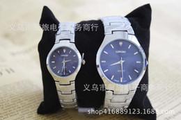 resistente al agua deporte relojes mujeres Rebajas Moda LONGBO marca relojes resistentes al agua hombres mujer amantes de la buena calidad pareja relojes de acero inoxidable completo relojes de cuarzo