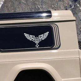 Wholesale Christian Stickers - Creative Classic Cross Wings Christian Car Decal Truck Window Vinyl Sticker Faith