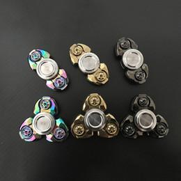 brinquedos de titânio Desconto Fingertip Gyro Crianças Brinquedos New Fidget Spinner EDC Espiral de Alumínio Titânio De Alumínio Parafuso De Rolamento De Esferas de Cerâmica EDC Ferramenta de Natal Meninos Brinquedos caixa