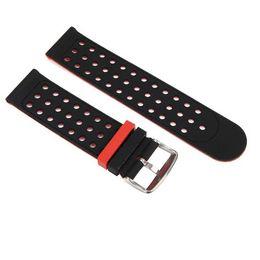 Универсальная замена кремния часы браслет ремешок группа 20 мм двухцветный круглое отверстие для Xiaomi Huami Amazfit Bip,TICWATCH2,WELOOP от Поставщики две тональные часы