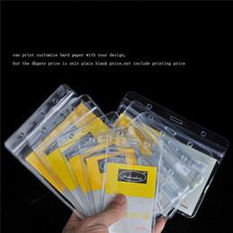 Imprimir cartões pvc on-line-Cartão macio do cartão de licença de trabalho macio da licença da lucidez do PVC o empregado de mesa macio do empregado de mesa ajustou o papel duro da cópia do suporte dos crachás com seu projeto.
