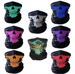 Wholesale Wholesale Graduation Caps - Motorcycle SKULL Ghost Face Windproof Mask Beanie Hat Outdoor Sports Warm Ski Mask Caps Bicyle Bike Balaclavas Bonnet Scarf Man