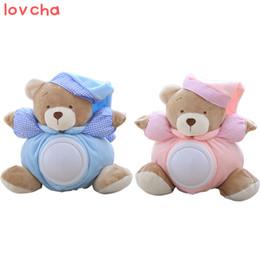 Wholesale Teddy Night Light - Lovcha Teddy Bear Sleeping Comfort Doll Pat Lamp Doll Kids light LED Night Light Toy Appease Bear Toys for kids