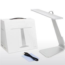 Wholesale desk for study - Fashion Ultrathin LED Desk Lamp Originality USB Table Lamps Minimalist Eyeshield Reading Light For Office Study 52xx X