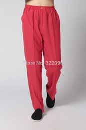Canada Shanghai Story Chinese Traditional Trousers Vêtements de style chinois pour hommes tai chi Pantalon KungFu Offre