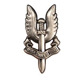 Distintivo britânico on-line-SAS Serviço Aéreo Especial Do Exército Britânico Que Se Atreve Vence O Distintivo Das Forças Militares De Metal Pin