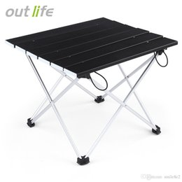 Wholesale Folding Picnic Table Camping - Outlife Ultralight Lightweight Mini Aluminum Alloy Folding Table Mesa Plegable for Hiking Camoing Picnic Outdoor Entertainment