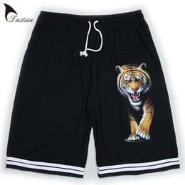 TASTIEN Tiger Printed Mens Shorts 2018 Alta calidad transpirable 3D Shorts Casual Loose Homme Plus Size Men Patrón Funny Trousers desde fabricantes